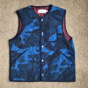 Coach Men's Vest Sz L In Navy Blue Camo NWOT
